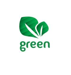 Green eco friendly vector image