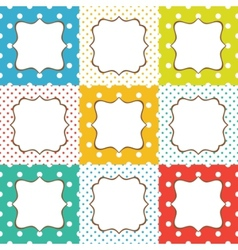 greeting cards set vector image vector image