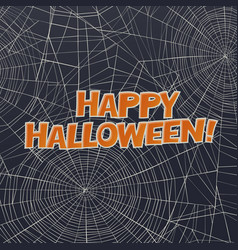 halloween card or background spider web and vector image