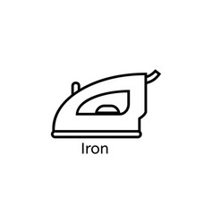 iron simple line icon ironing clothes thin linear vector image