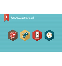 Leisure flat icons set vector image vector image