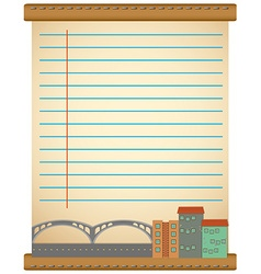 Line paper design with city view vector