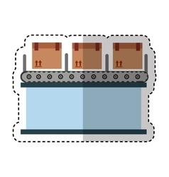 logistic line machine icon vector image