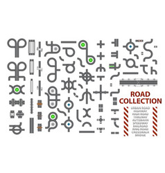 Mega collection of road junctions street road vector