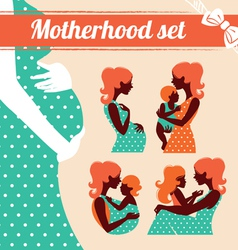 Motherhood set vector