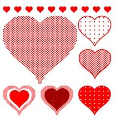 polka dot hearts vector image