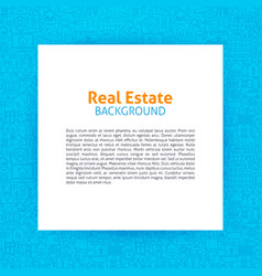 Real estate paper template vector