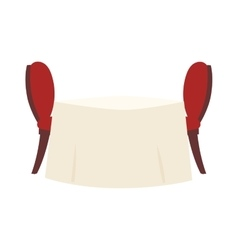 Restaurant table vector image vector image