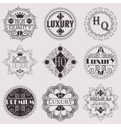 Retro design luxury insignias logotypes template vector