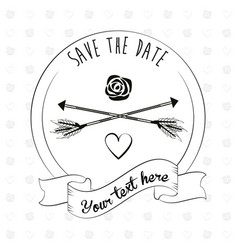 save the date invitation event decoration ornament vector image