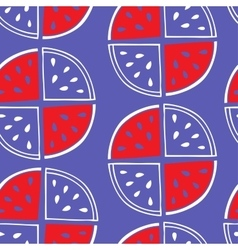 Seamless pattern of watermelon slices vector image vector image
