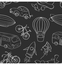 Sketches means of transport boys seamless pattern vector image vector image