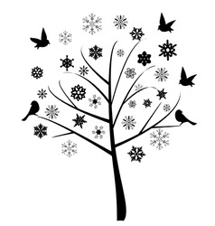 Snow tree vector