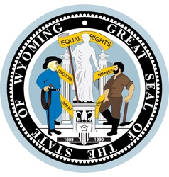 State of Wyoming seal vector image vector image