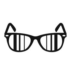 Sunglasses simple icon vector