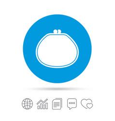 Wallet sign icon cash bag symbol vector