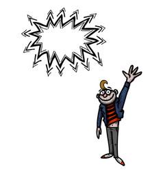 waving man-100 vector image