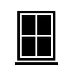 Window frame glass pane vector