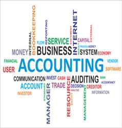 Word cloud accounting vector