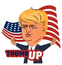 August 04 2016 donald trump thumb up character vector