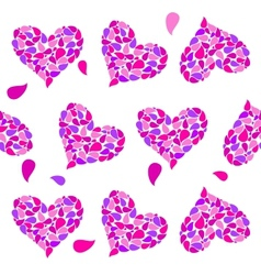 Valentine seamless hearts pattern vector