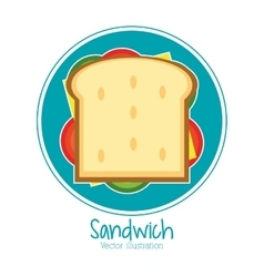 Sandwich bread lunch snack icon vector