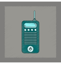 Flat shading style icon old cell phone vector