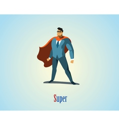 Businessman superhero vector