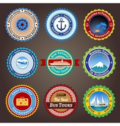 Travel labels badges and stickers vector