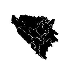Bosnia and herzegovina map vector