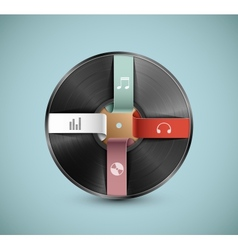 Musical infographic vector image