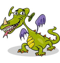 Cartoon funny monster or dragon vector