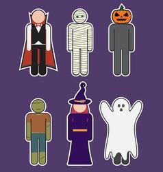 Halloween monster costume vector