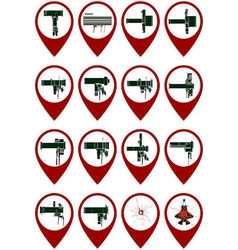 Icons with manpads vector