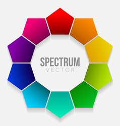Colorful rainbow flower vector image