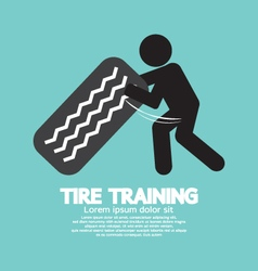Tire training workout symbol vector