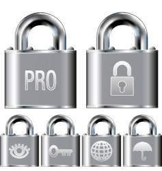 Internet security professional icons vector