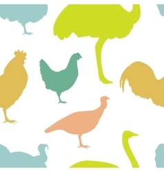 Farm bird silhouettes vector