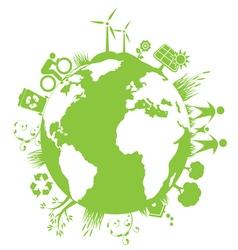 Green planet environment vector