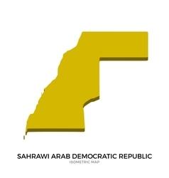 Isometric map of sahrawi arab democratic republic vector