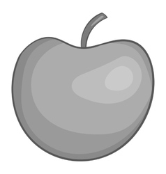 Apple icon black monochrome style vector