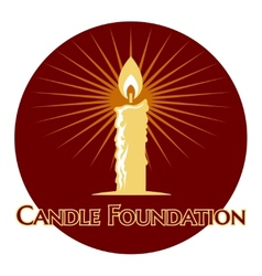 Burning candle logo vector