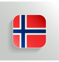 Button - norway flag icon vector