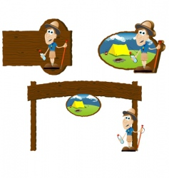 camping signs vector image