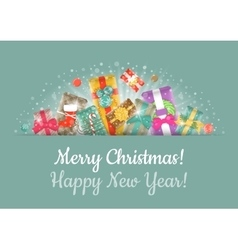 Christmas gifts background horizontal header vector