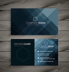 Dark business card presentation vector