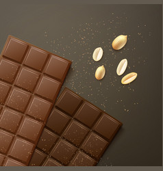 Different chocolate bars vector
