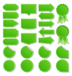 green price tags vector image vector image