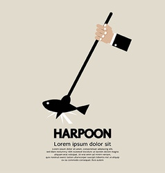 Harpoon vector image
