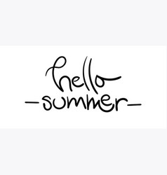 hello summer with unique hand drawn vector image